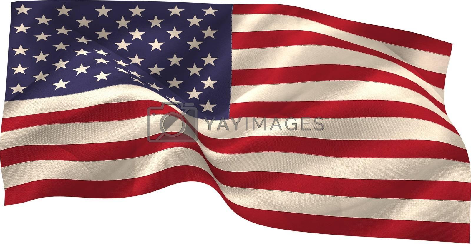 Royalty free image of Digitally generated united states national flag by Wavebreakmedia