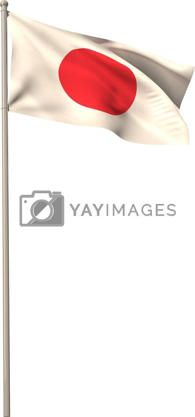 Royalty free image of Digitally generated japan national flag by Wavebreakmedia