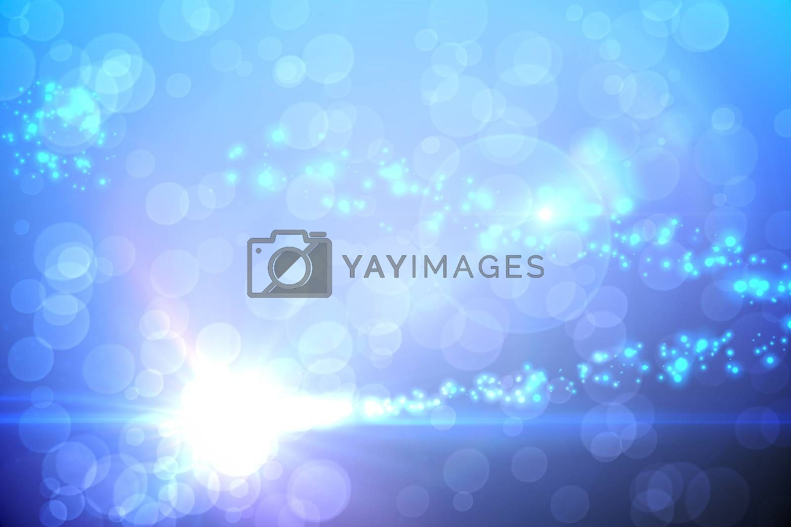 Royalty free image of Bright light energy design in blue by Wavebreakmedia