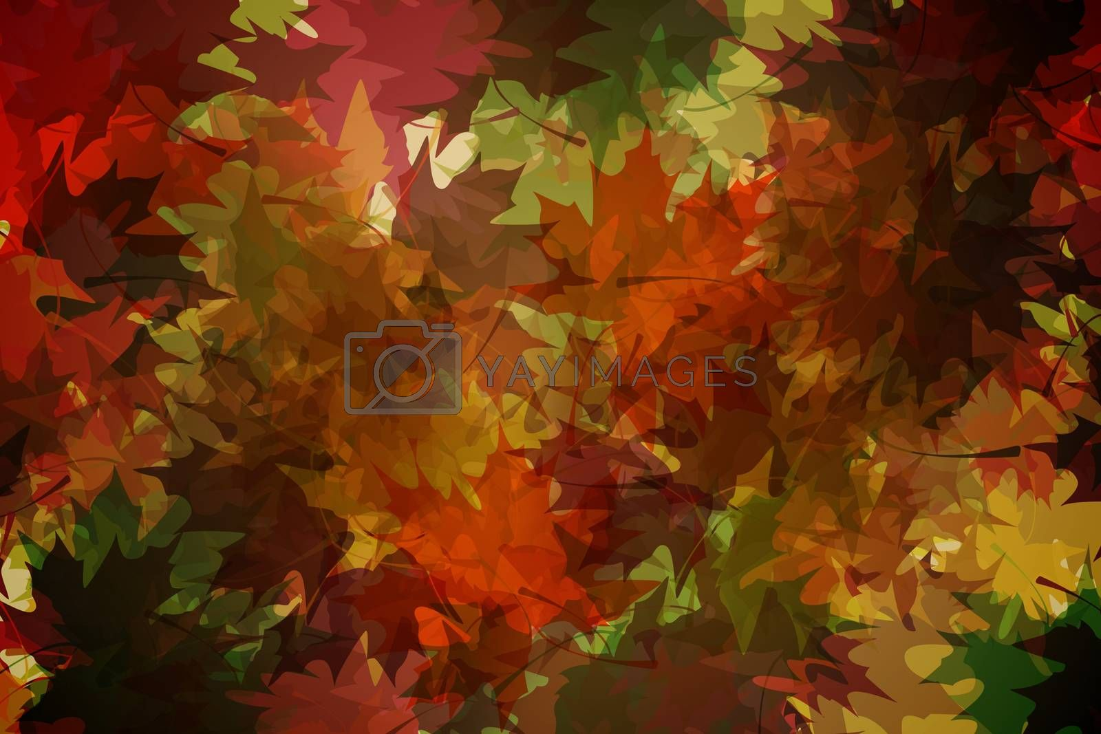Royalty free image of Autumnal leaf pattern in warm tones by Wavebreakmedia