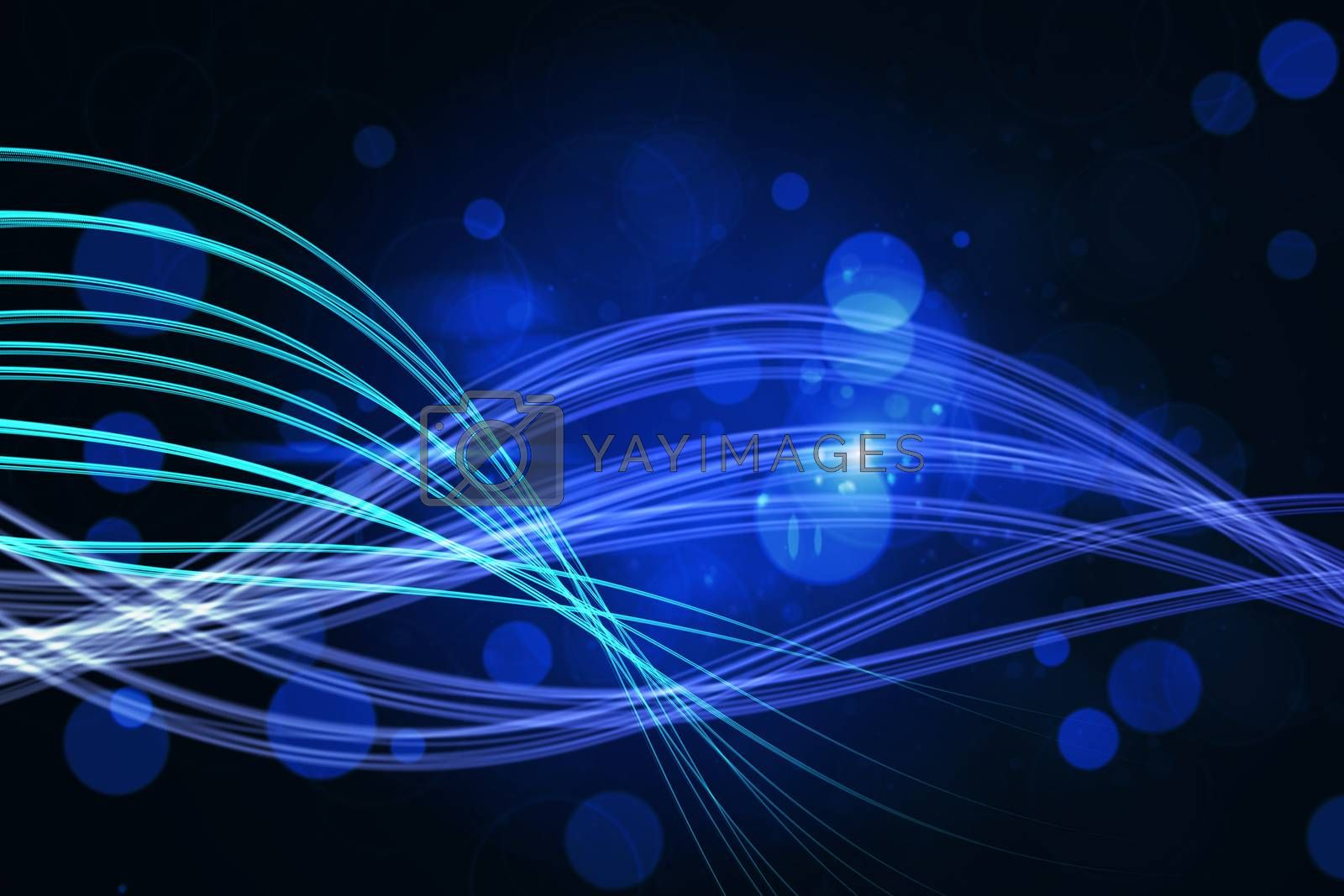Royalty free image of Curved laser light design in blue  by Wavebreakmedia