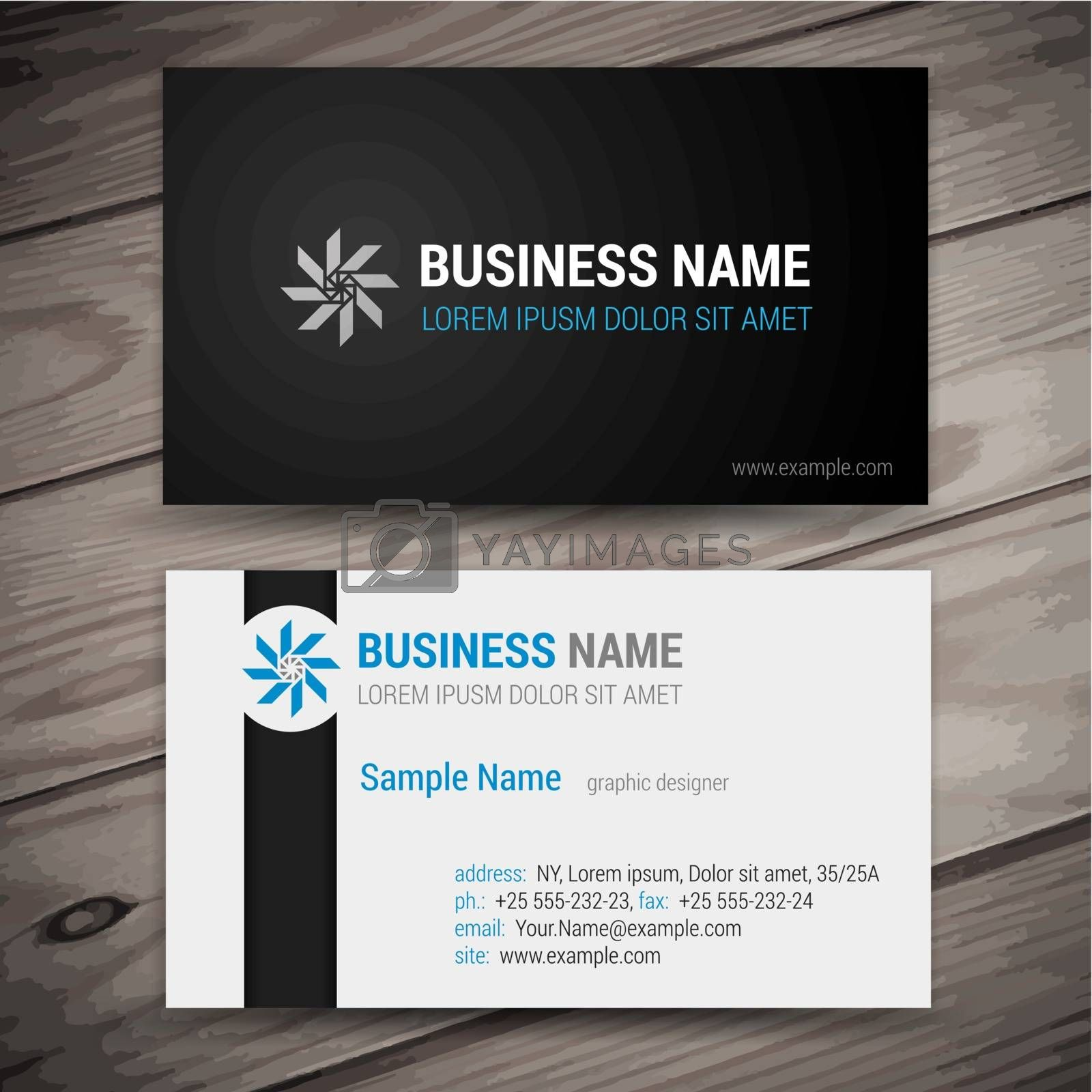 Royalty free image of Vector abstract creative business cards by vtorous
