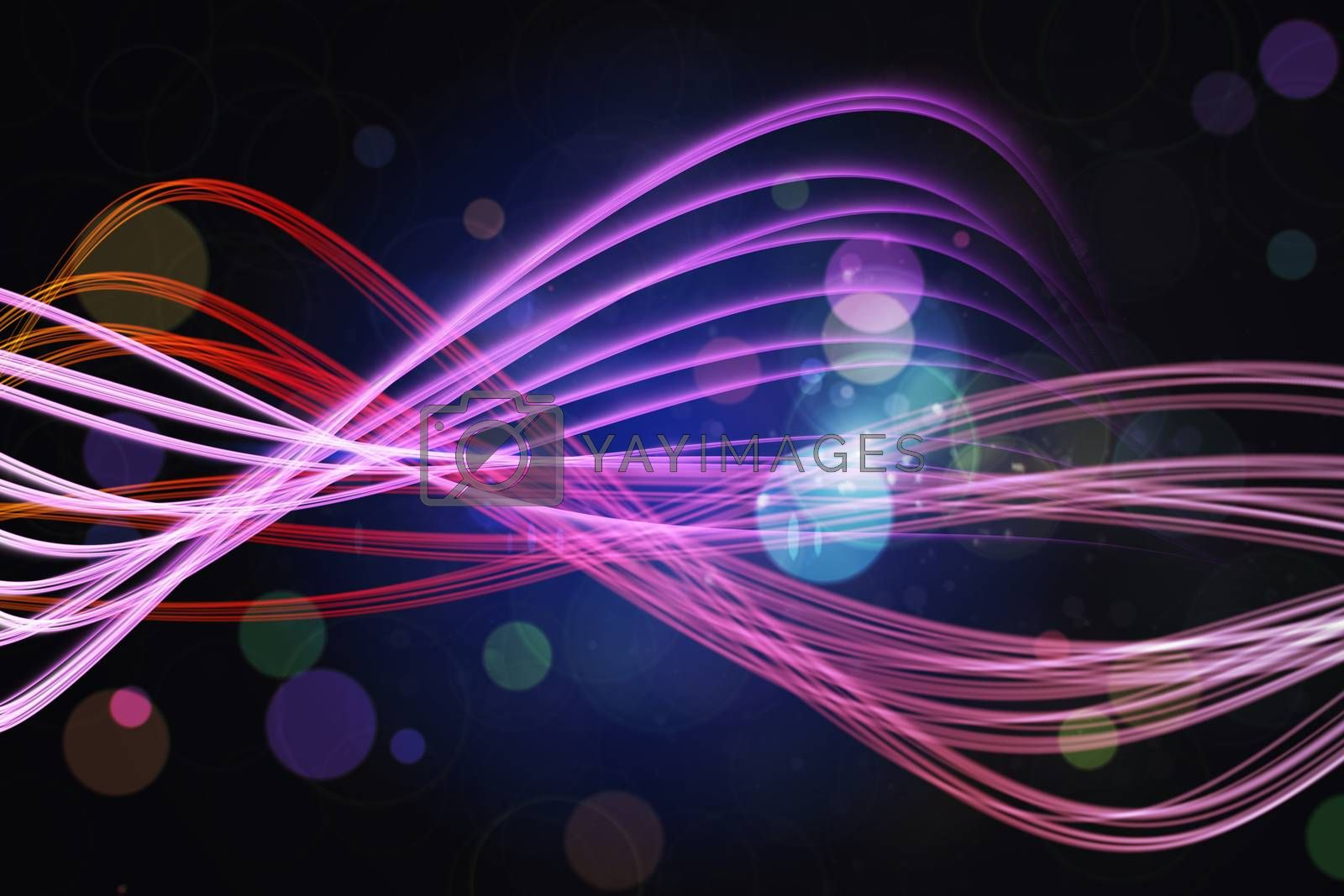 Royalty free image of Curved laser light design in pink by Wavebreakmedia
