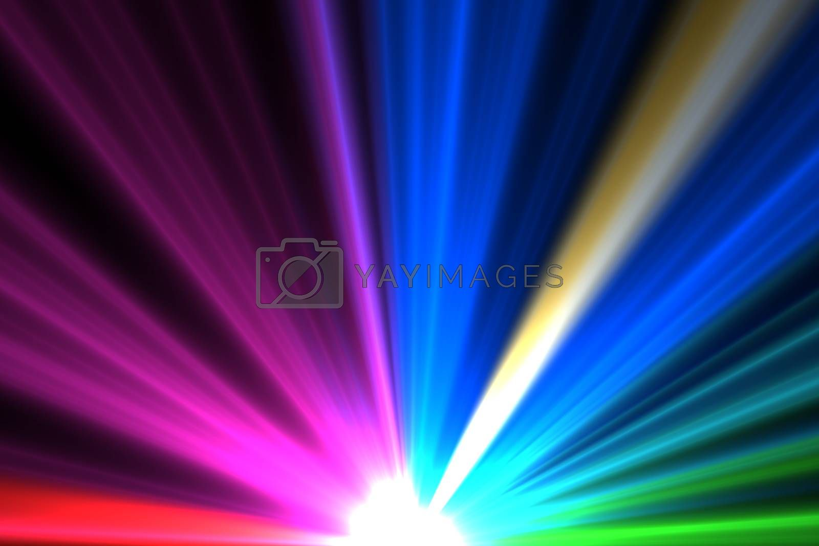 Royalty free image of Bright colourful laser beams shining by Wavebreakmedia