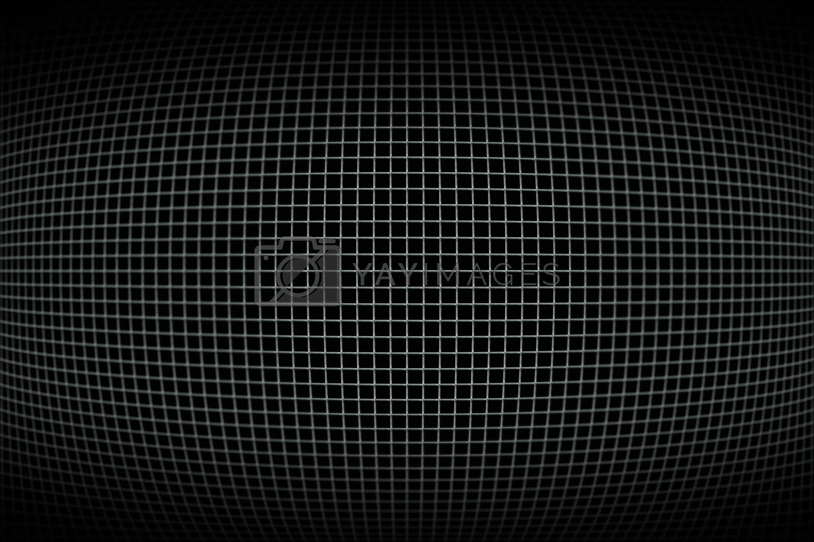 Royalty free image of Dark black and grey gird pattern by Wavebreakmedia