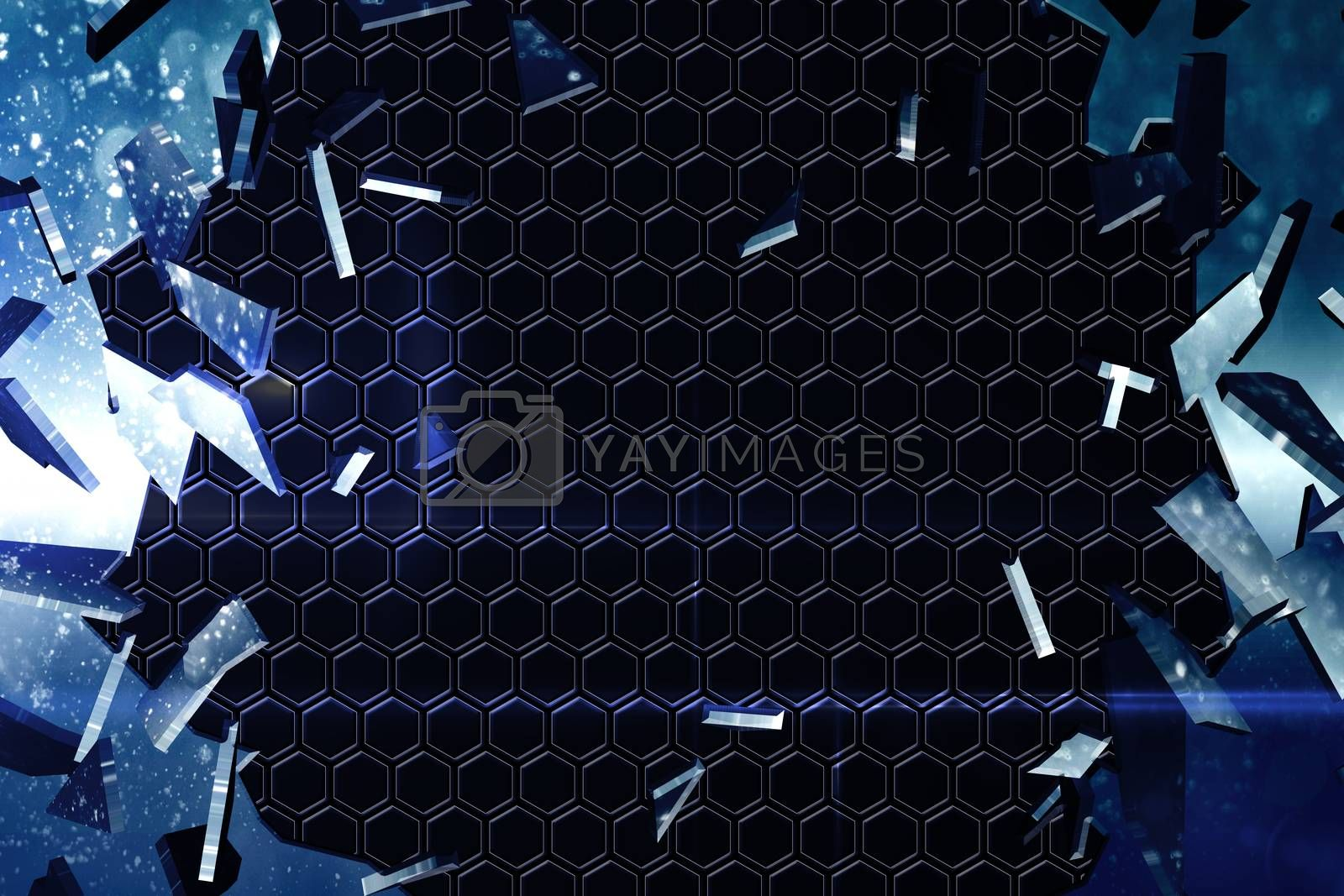 Royalty free image of Glass shattering to show dark pattern by Wavebreakmedia