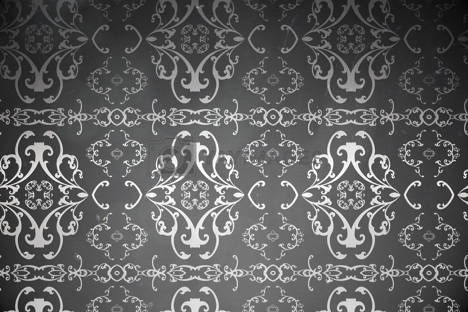 Royalty free image of Elegant patterned wallpaper in grey by Wavebreakmedia