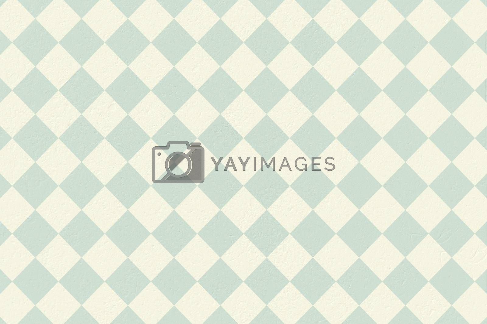 Royalty free image of Blue and cream patterned wallpaper by Wavebreakmedia