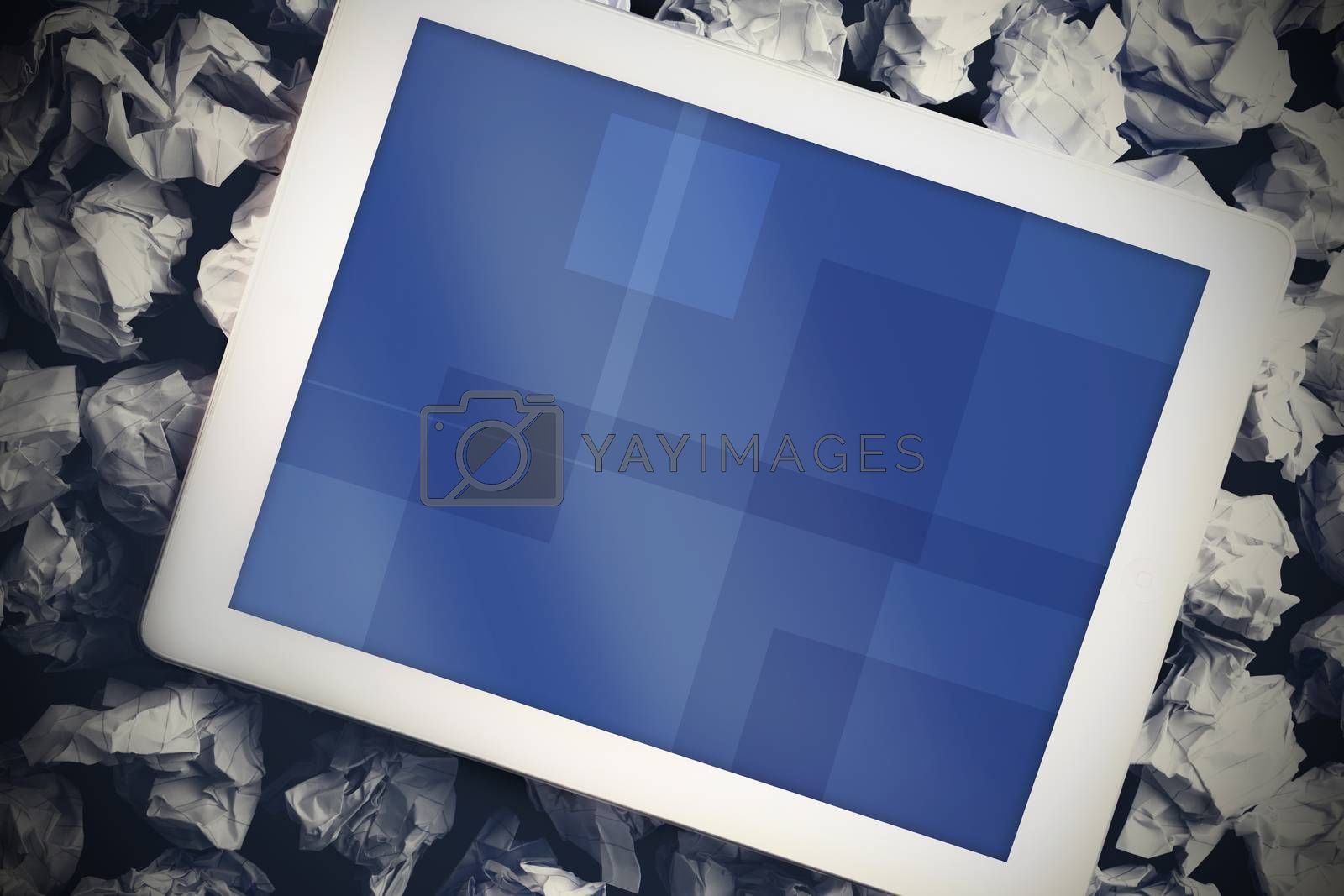 Royalty free image of Tablet pc with blue screen by Wavebreakmedia