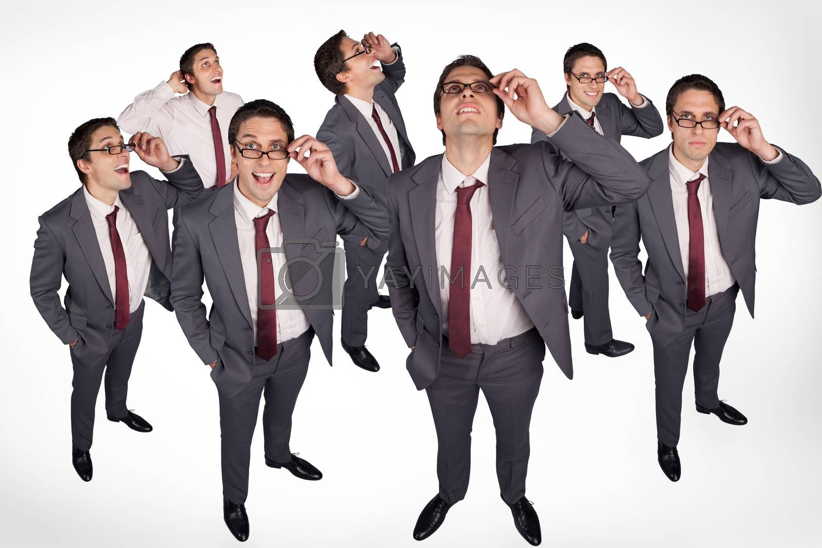 Royalty free image of Varied emotions of businessman by Wavebreakmedia