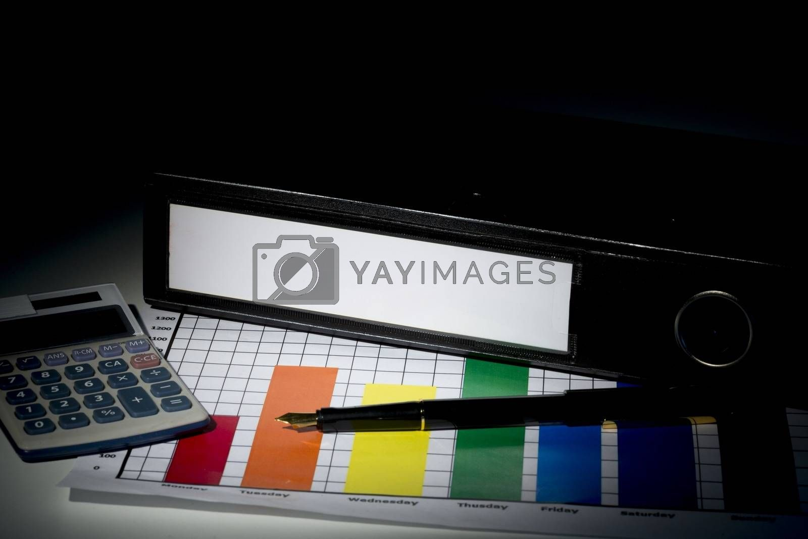 Royalty free image of Business binder with stationary  by Wavebreakmedia