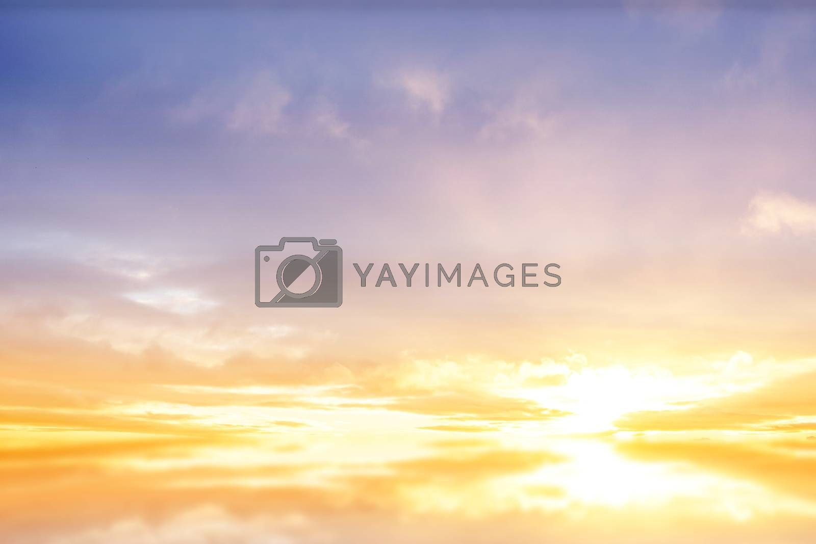 Royalty free image of Beautiful blue and yellow sky by Wavebreakmedia