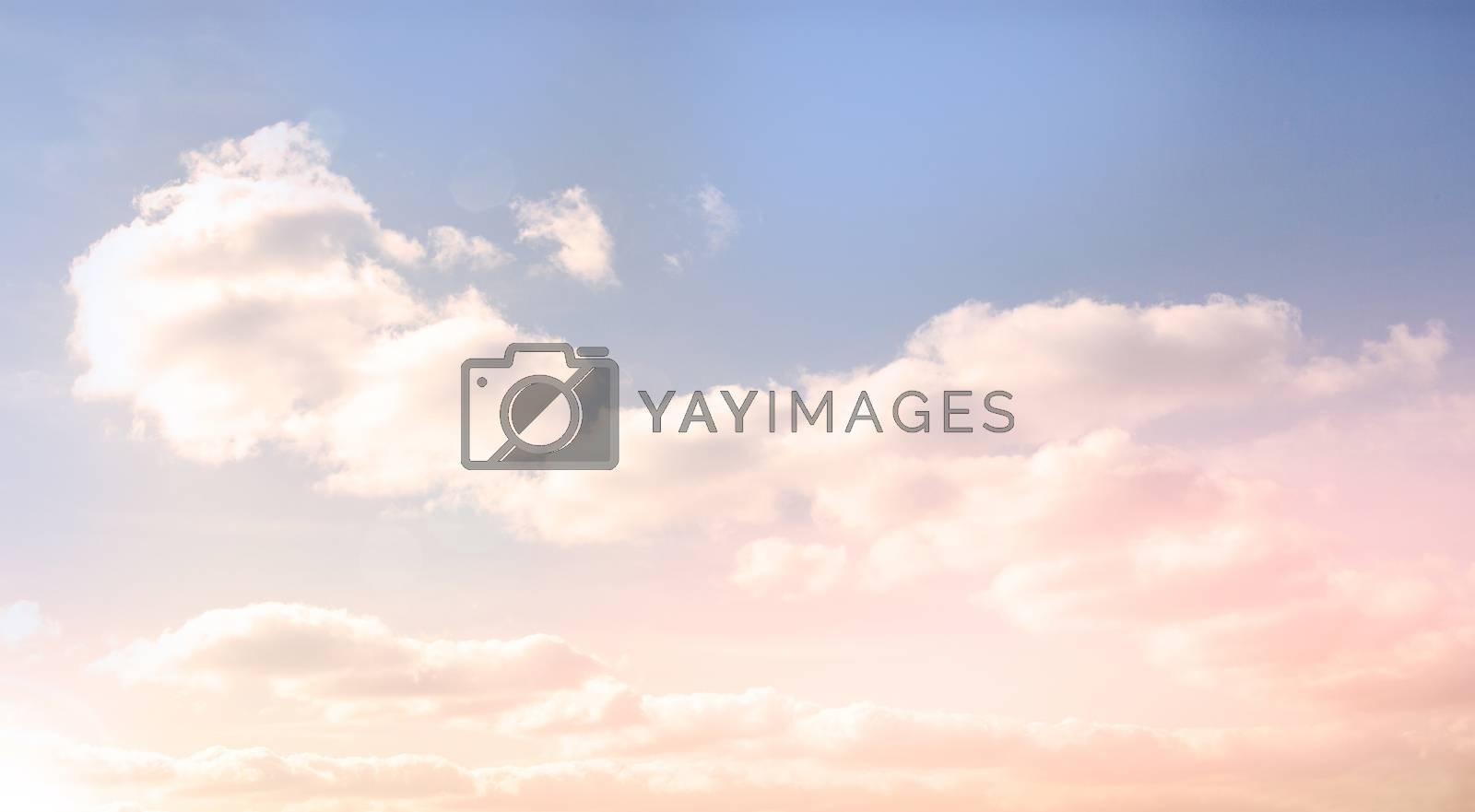 Royalty free image of Beautiful blue cloudy sky by Wavebreakmedia