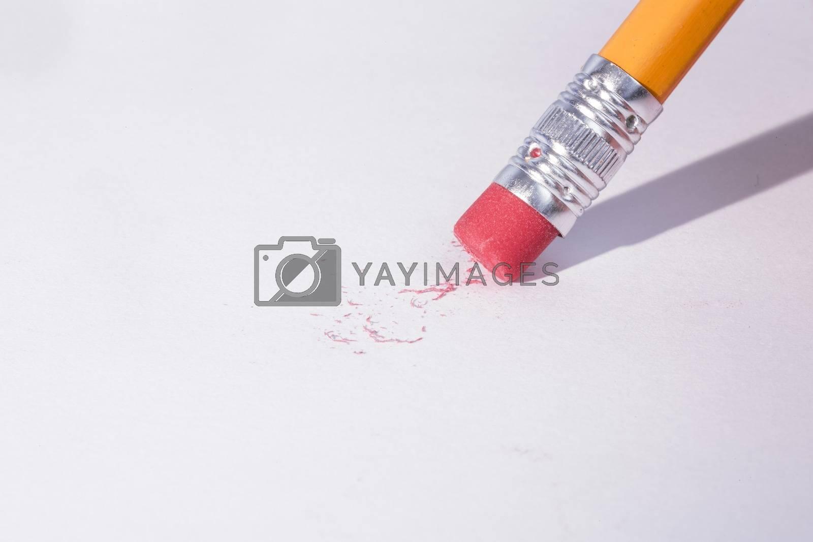 Royalty free image of Pencil erasing by Wavebreakmedia