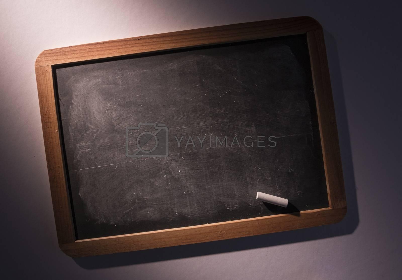 Royalty free image of Chalkboard with chalk by Wavebreakmedia