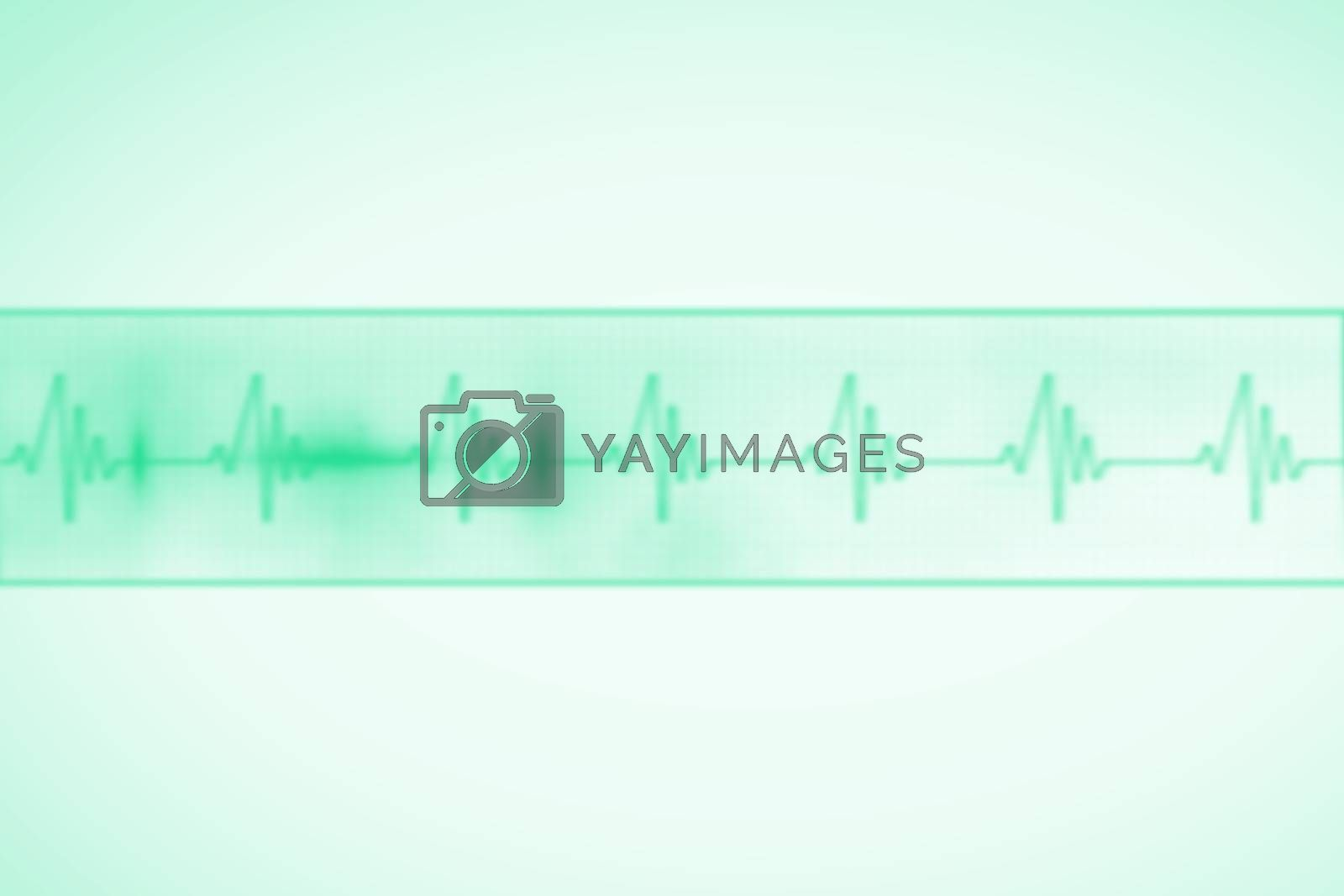 Royalty free image of Green medical background with ecg line by Wavebreakmedia