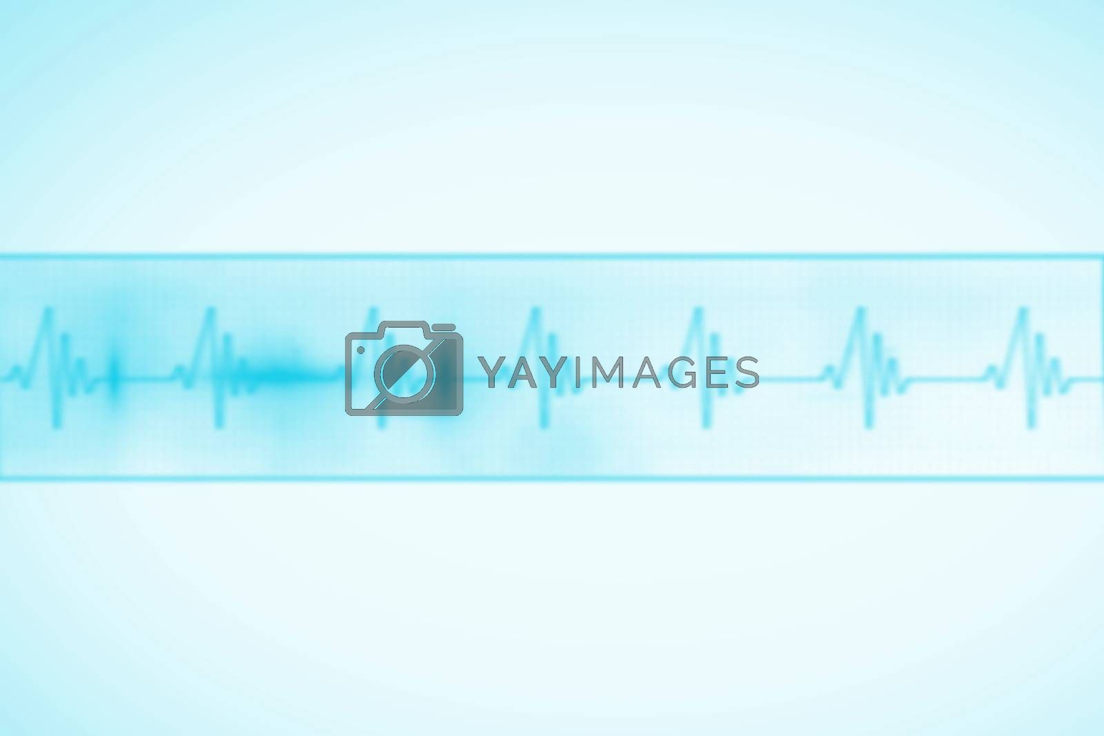 Royalty free image of Medical background with blue ecg line by Wavebreakmedia