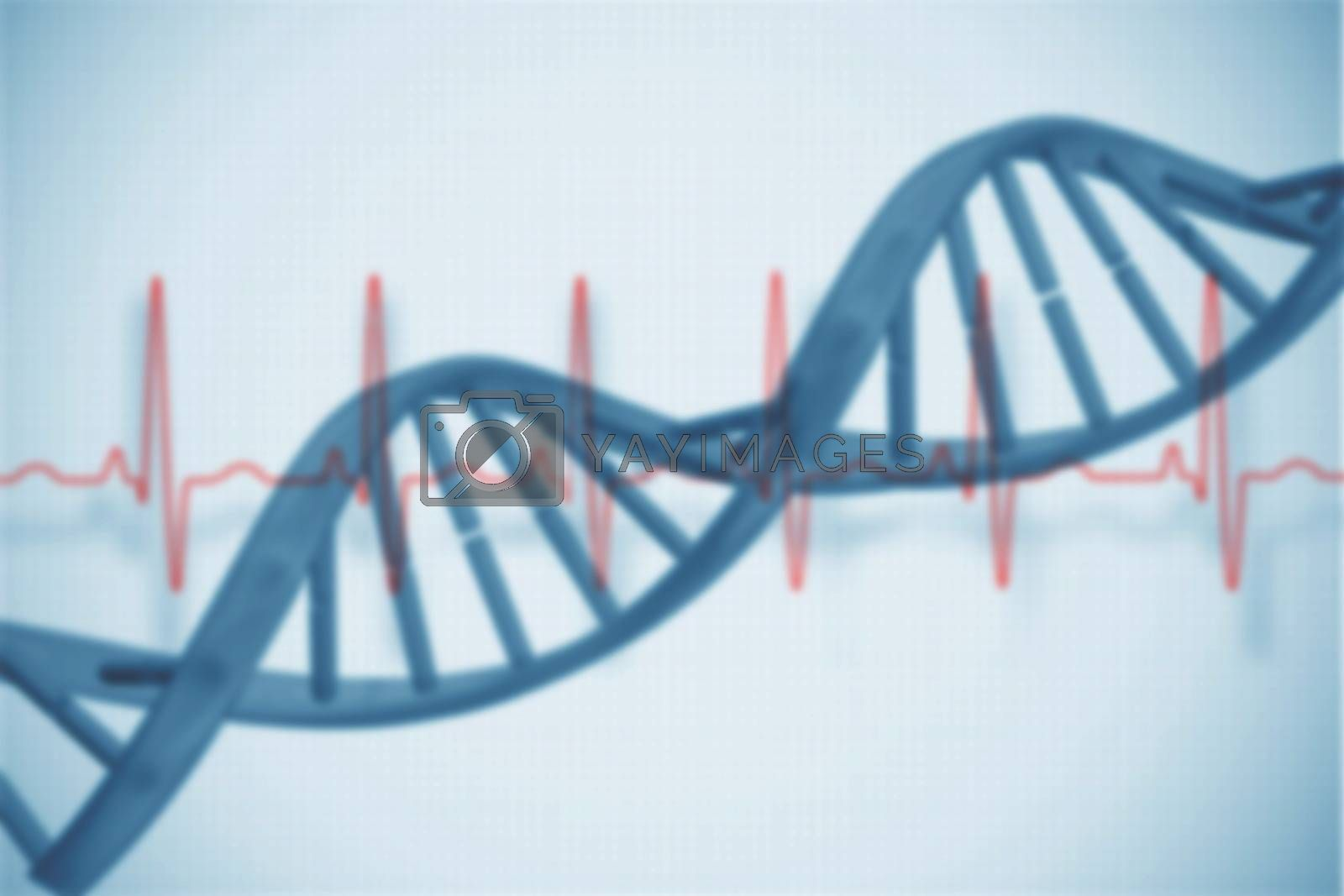 Royalty free image of Blue medical background with dna and ecg by Wavebreakmedia