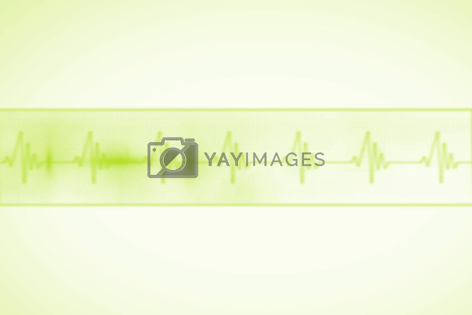 Royalty free image of Medical background with green ecg line by Wavebreakmedia
