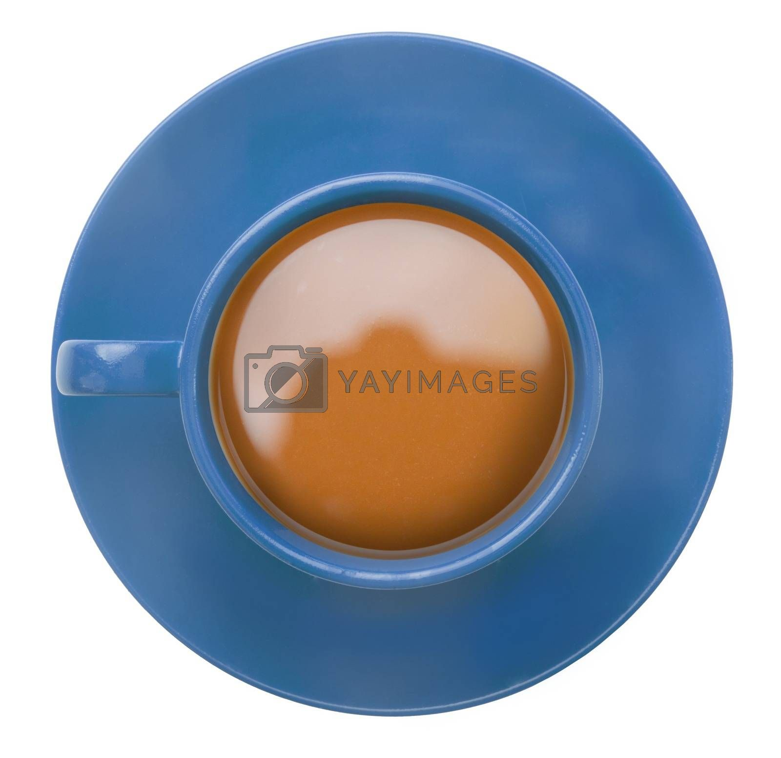 Royalty free image of Blue cup of coffee by Wavebreakmedia
