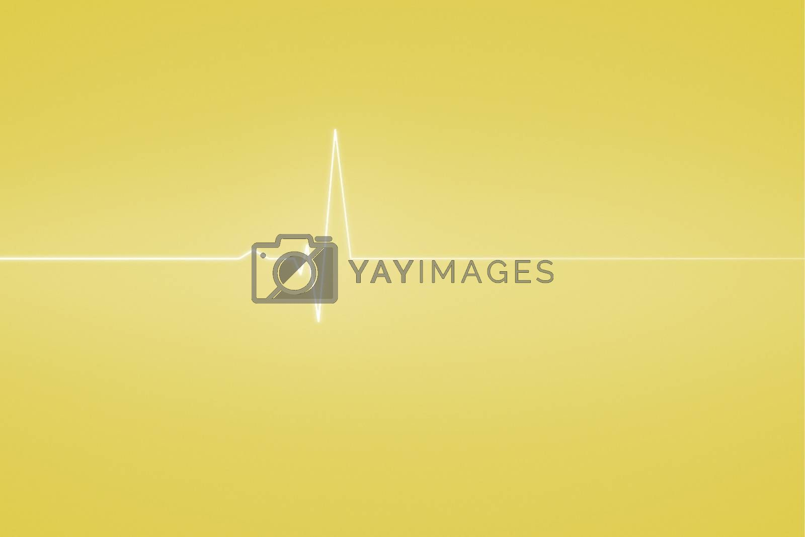 Royalty free image of Medical background with ecg line in yellow by Wavebreakmedia