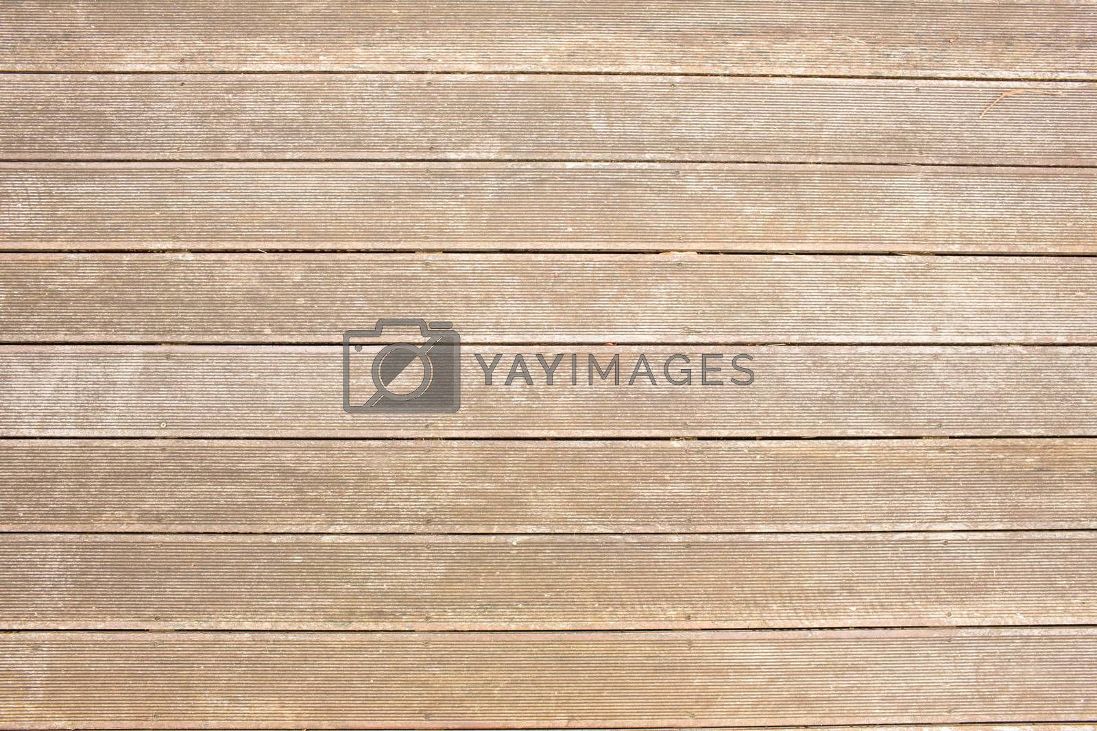 Royalty free image of Wooden surface with planks by Wavebreakmedia