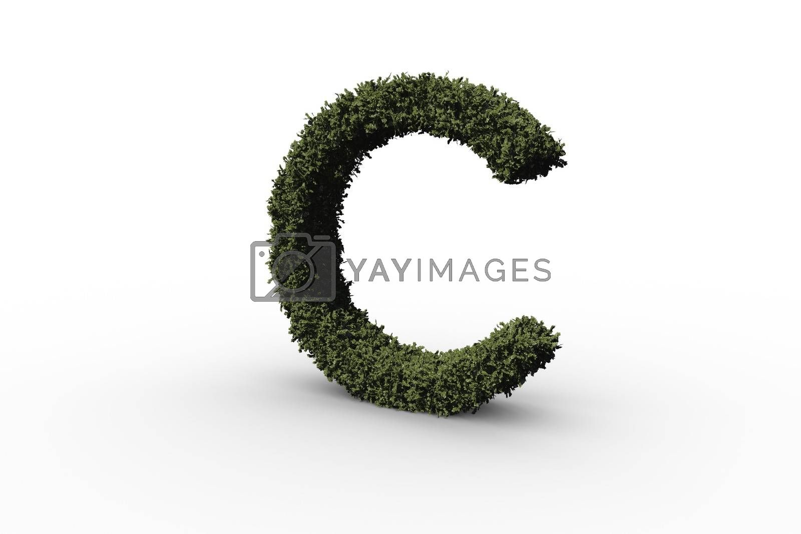 Royalty free image of Capital letter c made of leaves by Wavebreakmedia