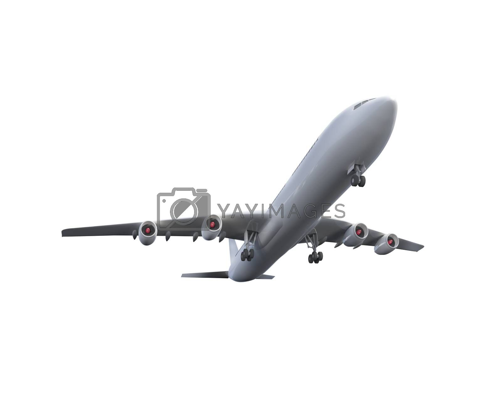 Royalty free image of Digitally generated white graphic airplane by Wavebreakmedia