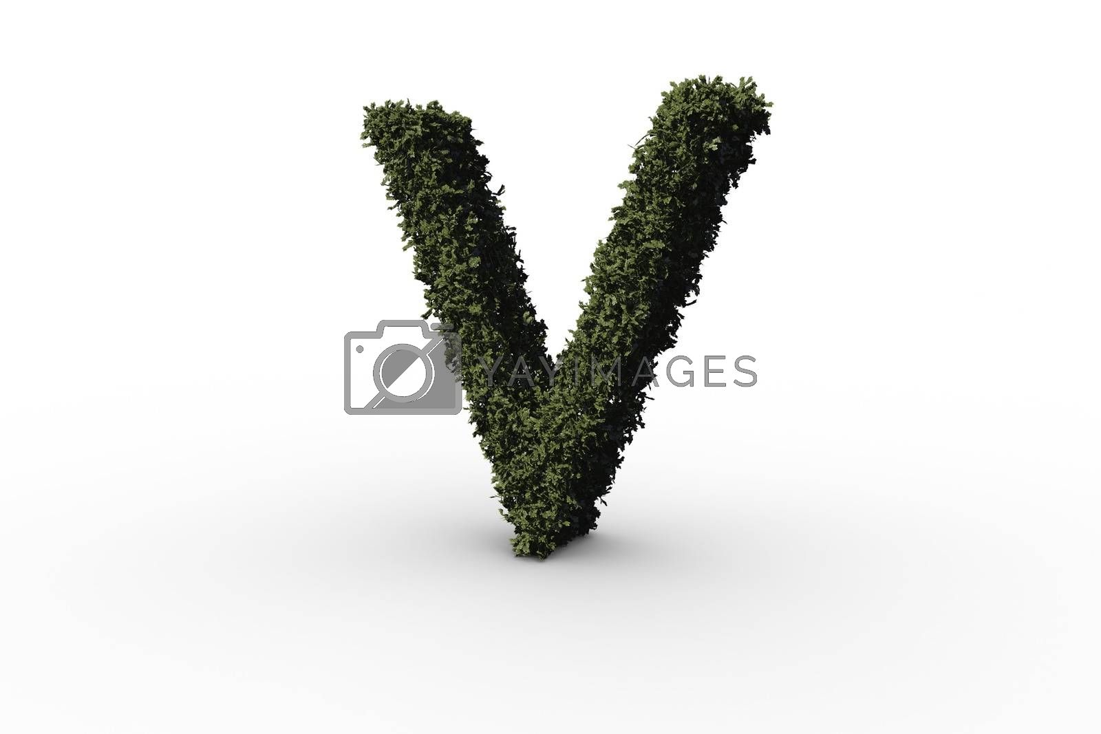 Royalty free image of Capital letter v made of leaves by Wavebreakmedia
