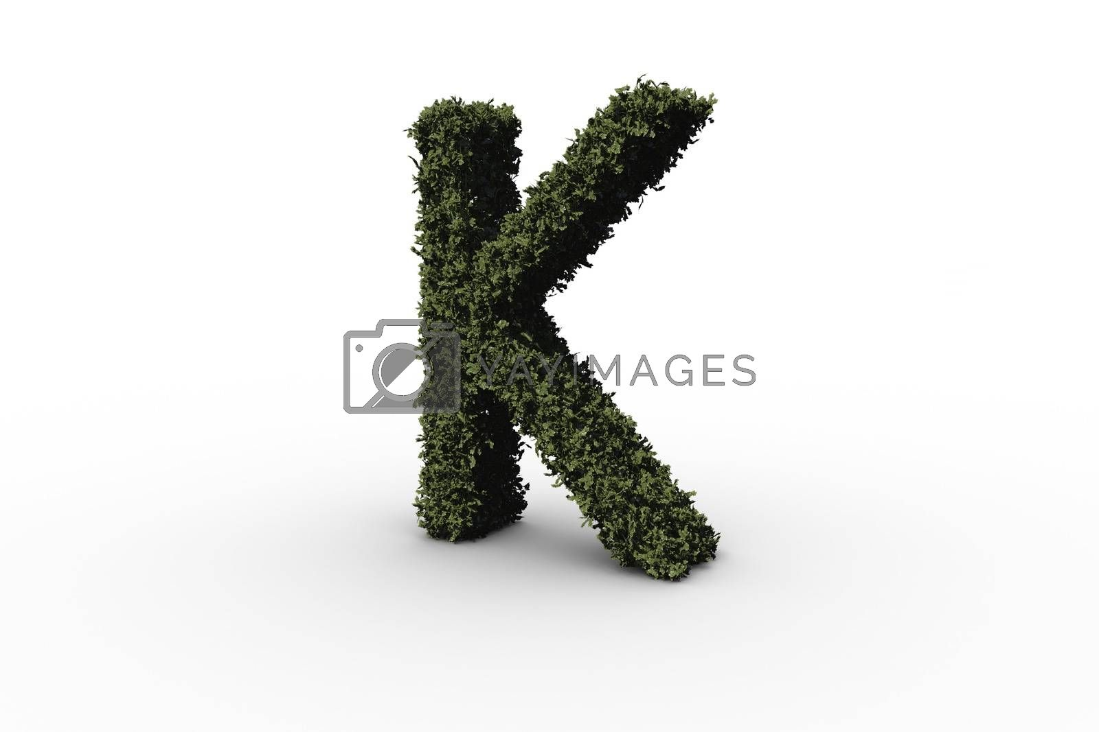 Royalty free image of Capital letter k made of leaves by Wavebreakmedia