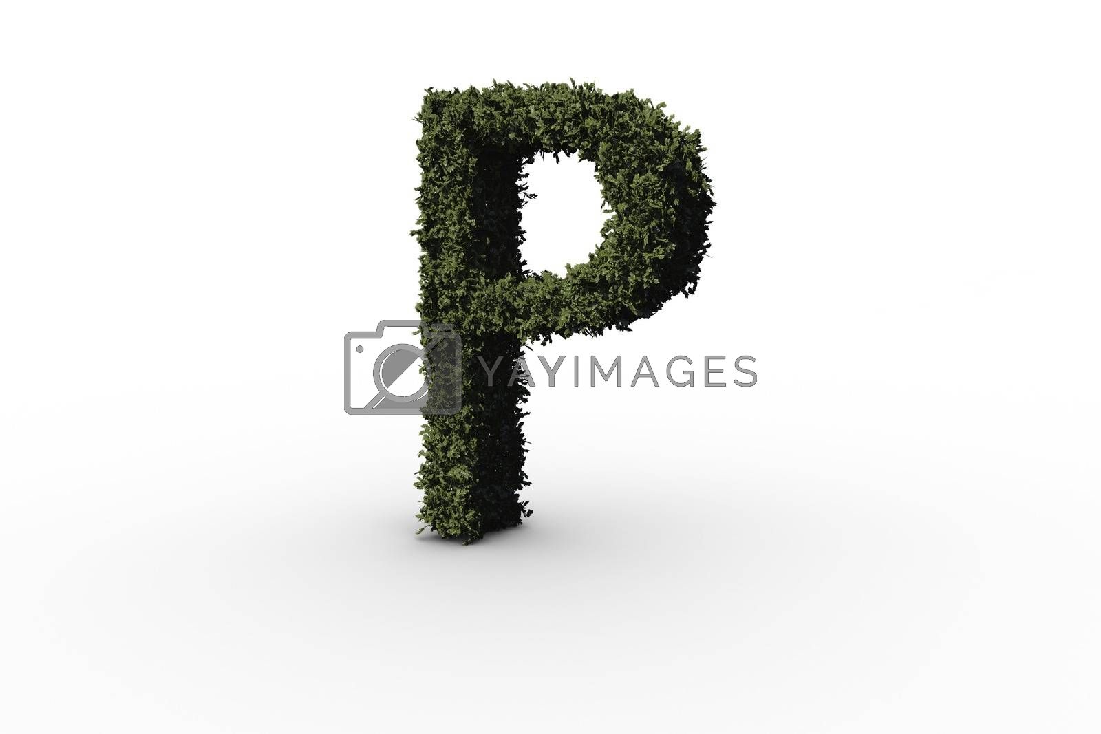 Royalty free image of Capital letter p made of leaves by Wavebreakmedia