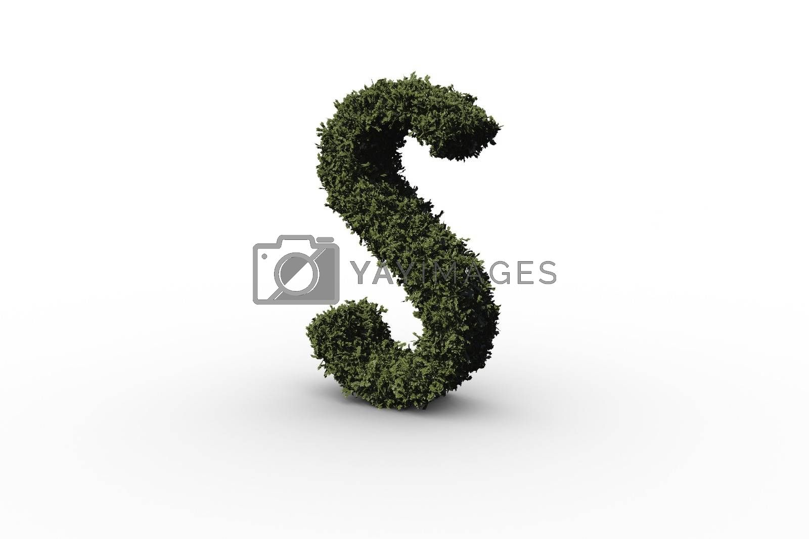 Royalty free image of Capital letter s made of leaves by Wavebreakmedia