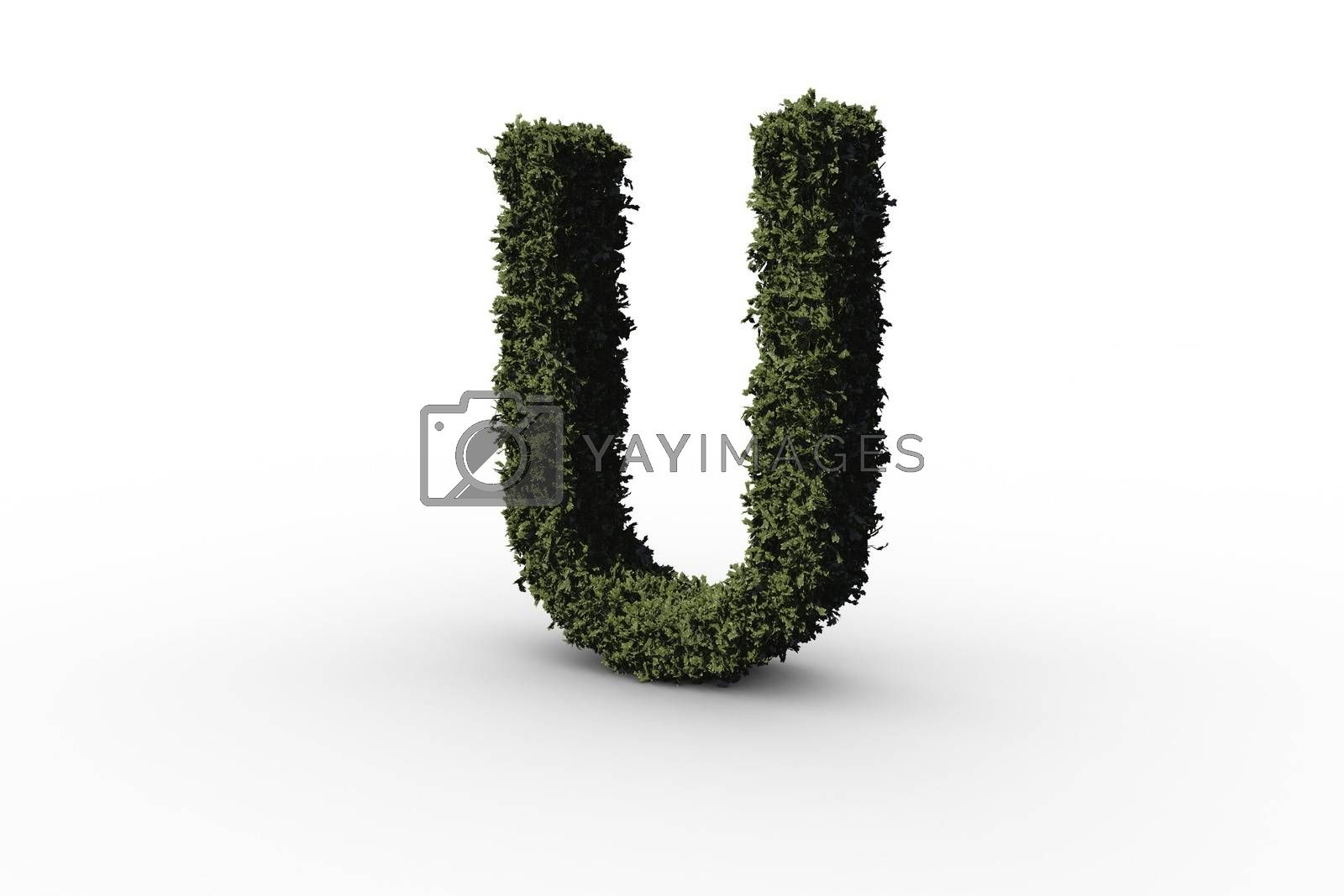 Royalty free image of Capital letter u made of leaves by Wavebreakmedia