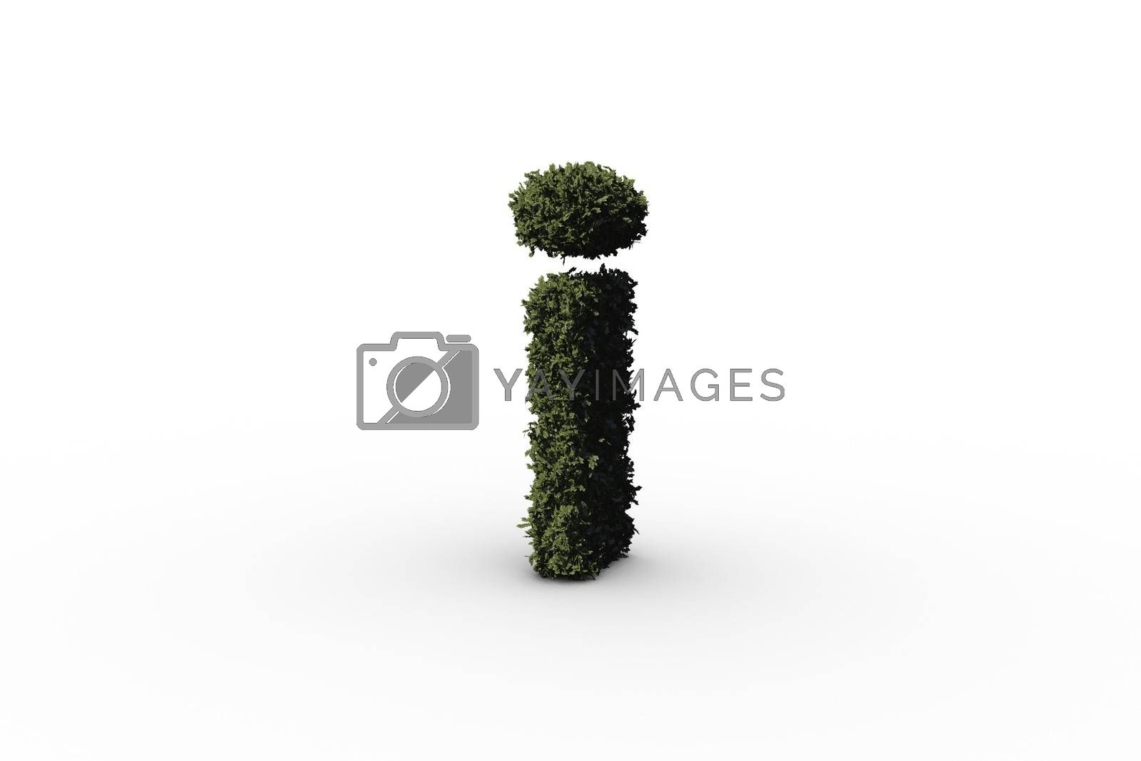 Royalty free image of Lower case letter i made of leaves by Wavebreakmedia