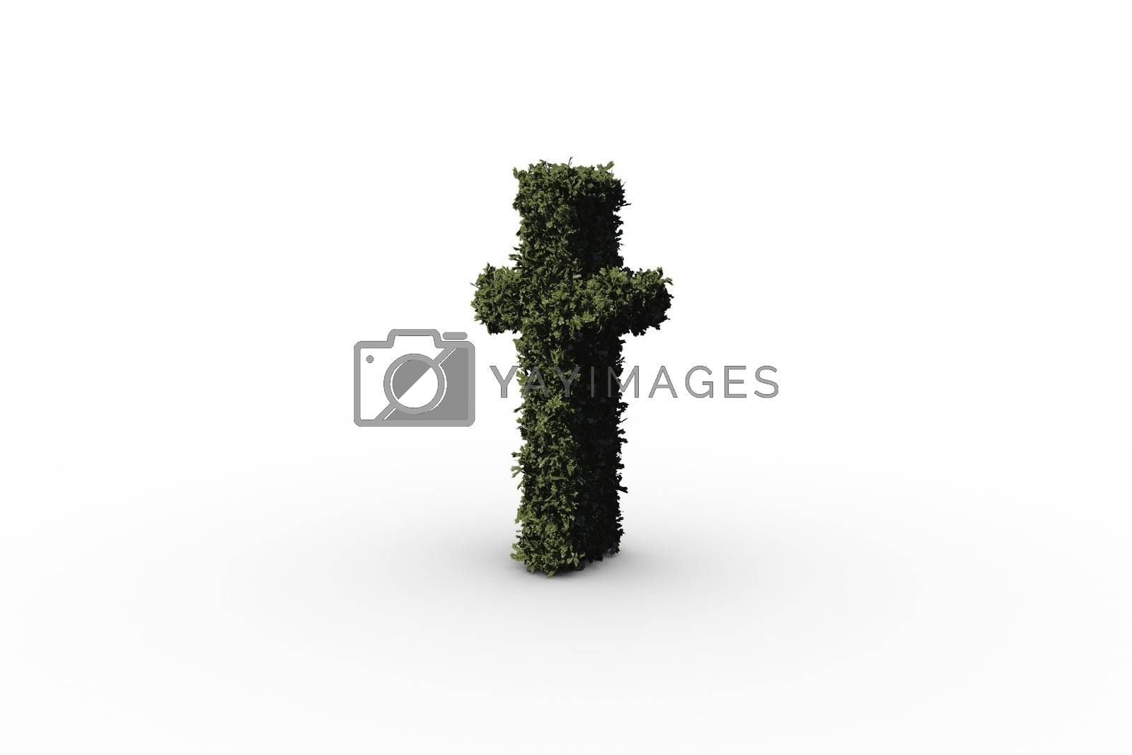 Royalty free image of Lower case letter t made of leaves by Wavebreakmedia