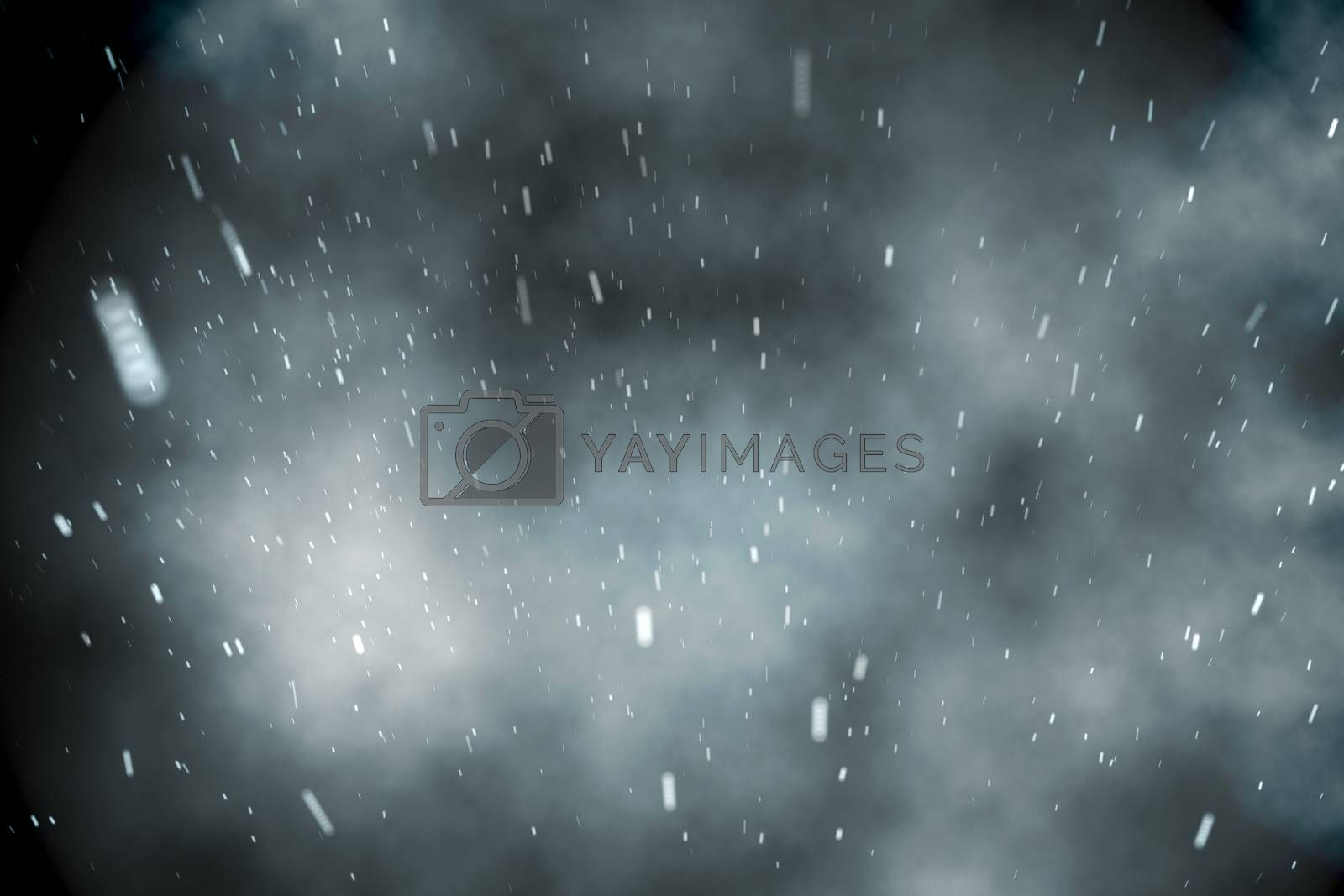 Royalty free image of Cloudy sky with snow falling by Wavebreakmedia