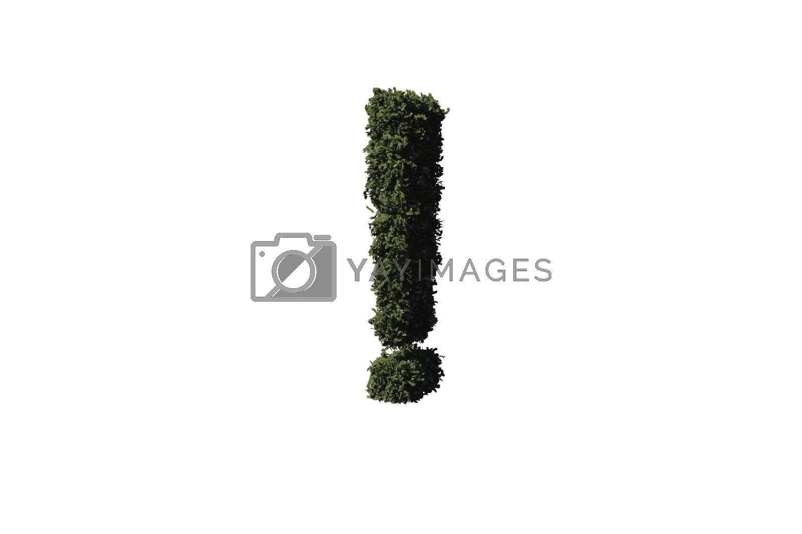Royalty free image of Exclamation mark made of leaves by Wavebreakmedia