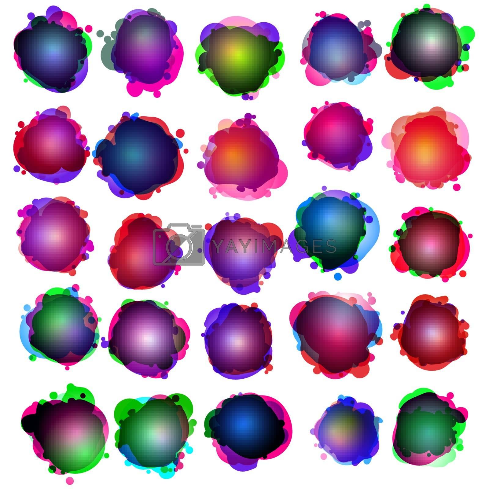Speech bubbles. Original illustration. EPS 10 vector file included