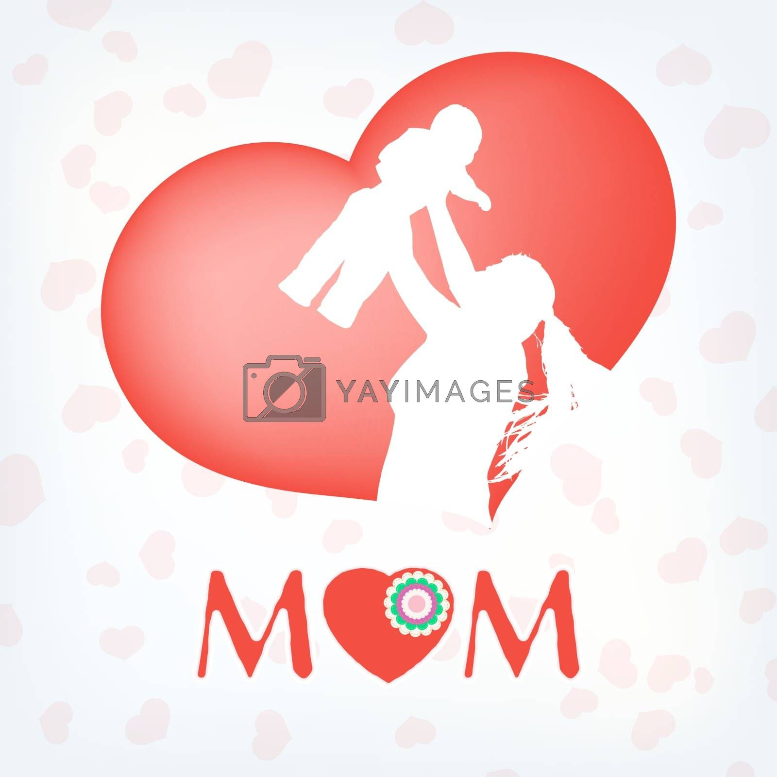 Silhouette of a mother and her child. EPS 10 vector file included