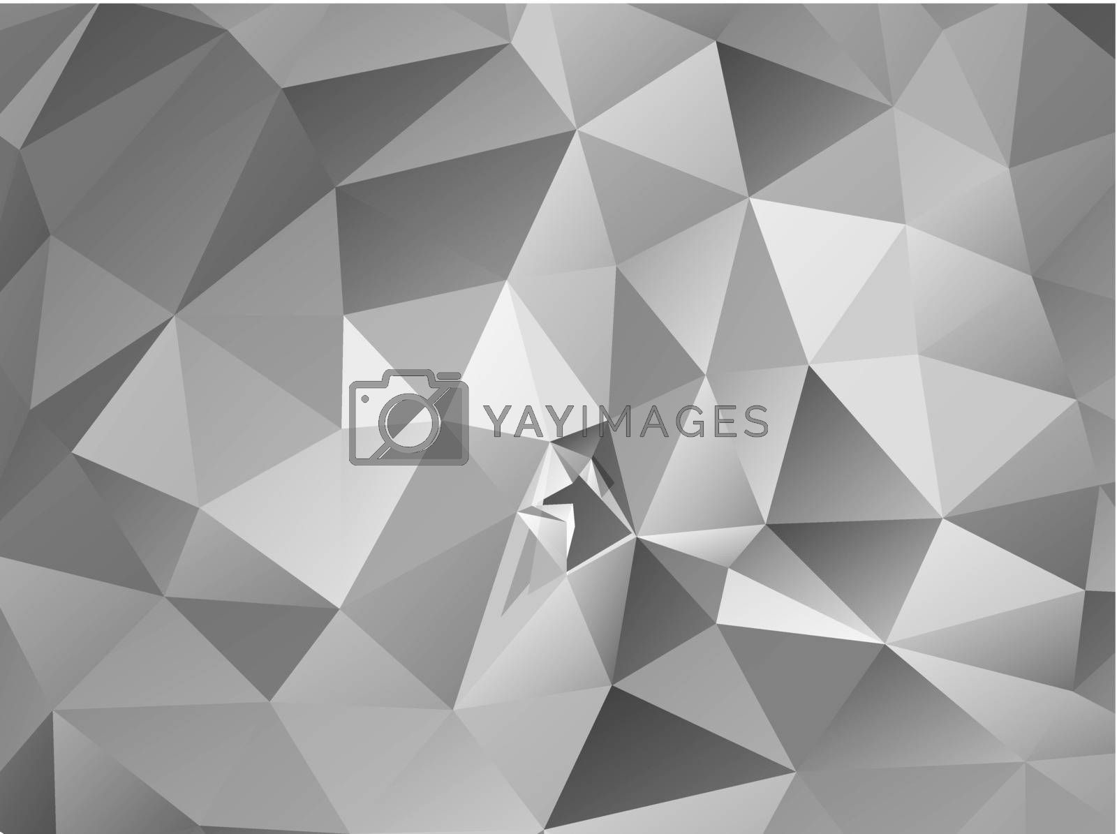 Triangle background. Gray polygons. Abstract background in modern style