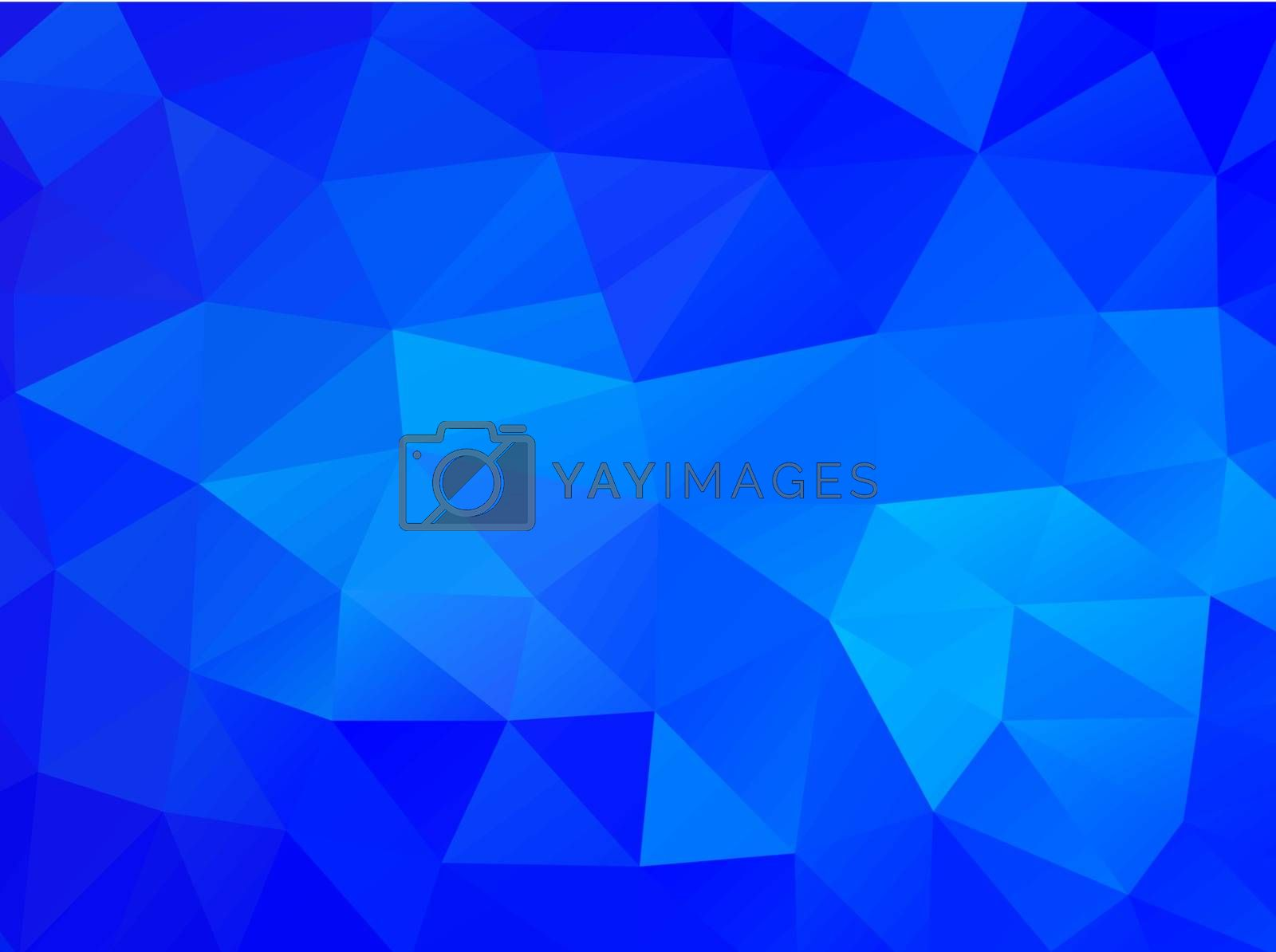 Triangle background. Blue polygons. Abstract background in modern style