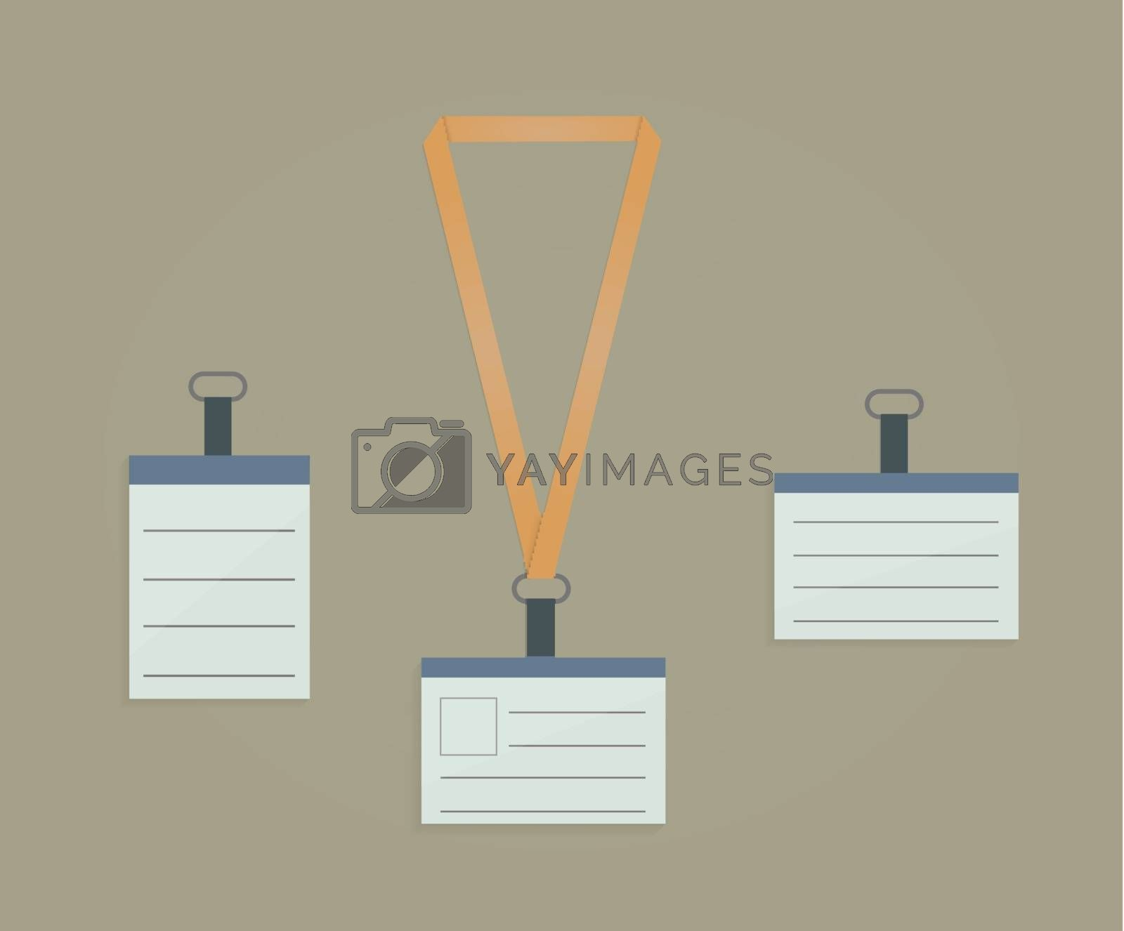 Retractor, lanyard and badge for business presentation
