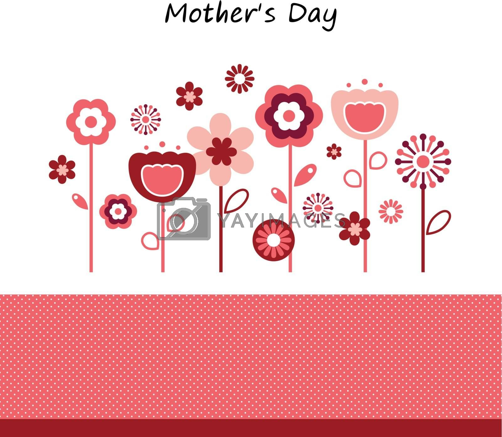 Beautiful greeting with flowers. Vector Illustration