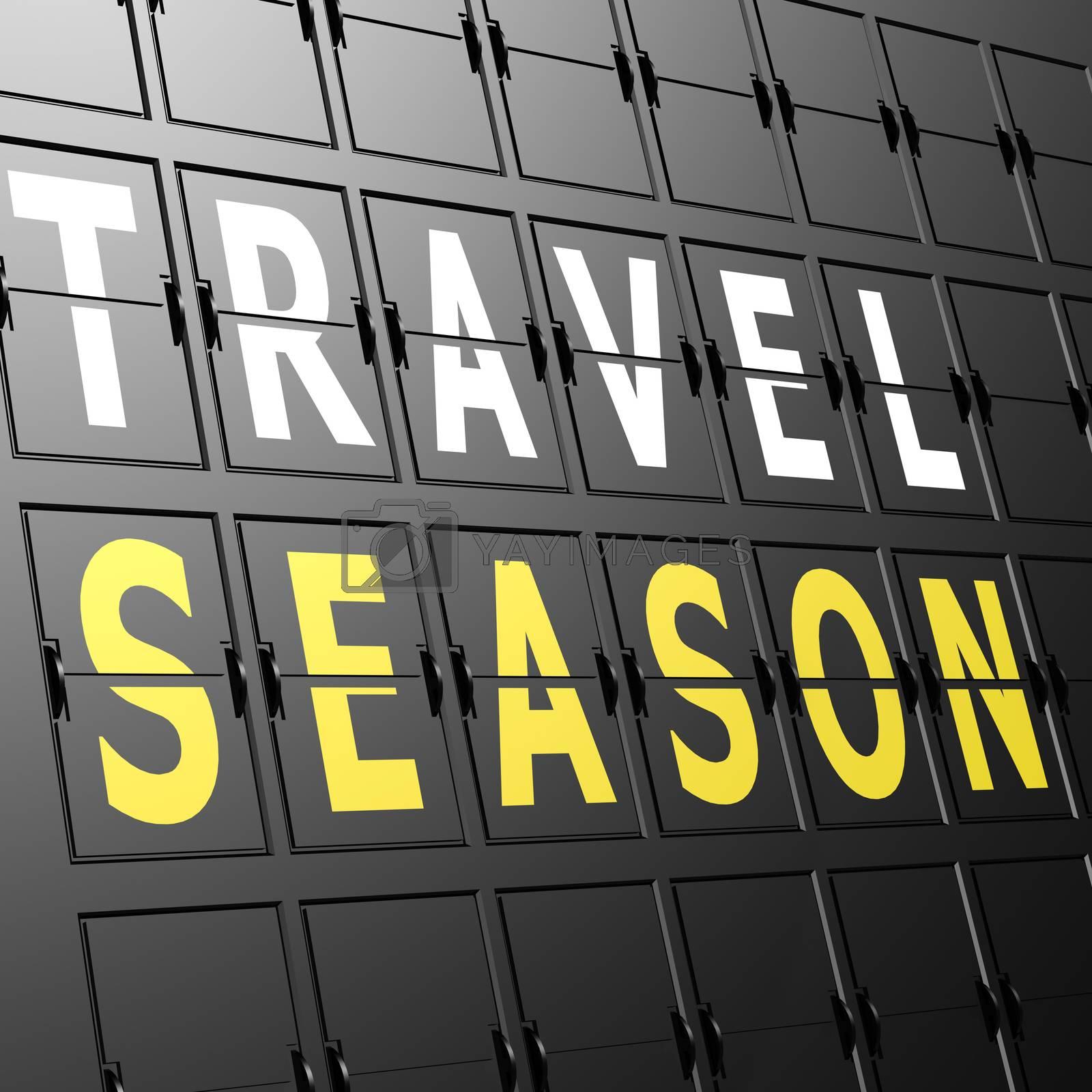 Airport display travel season