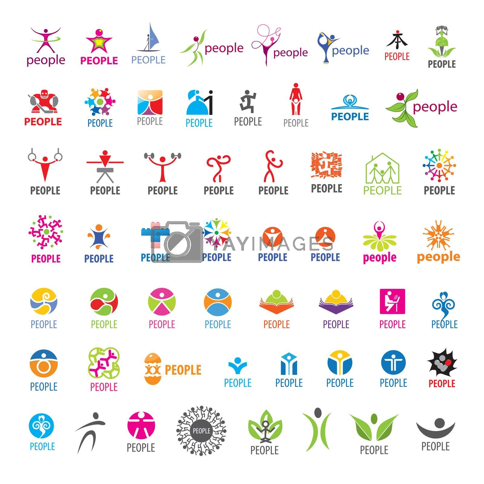 biggest collection of vector logos people  by Butenkov
