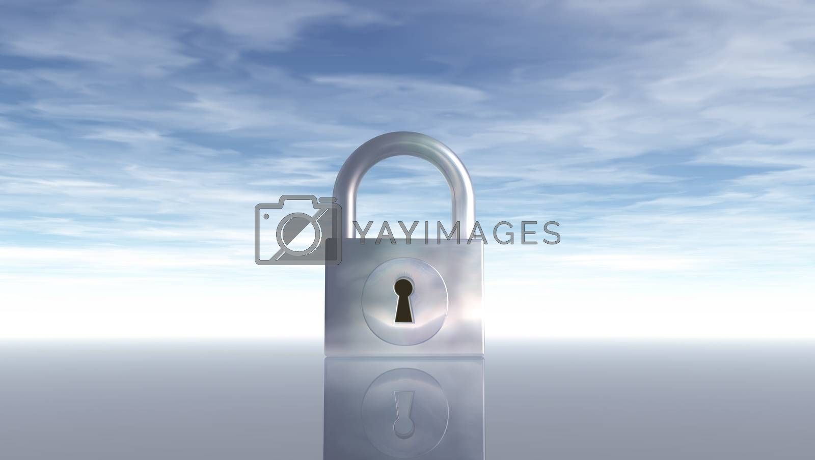 padlock under blue sky by drizzd