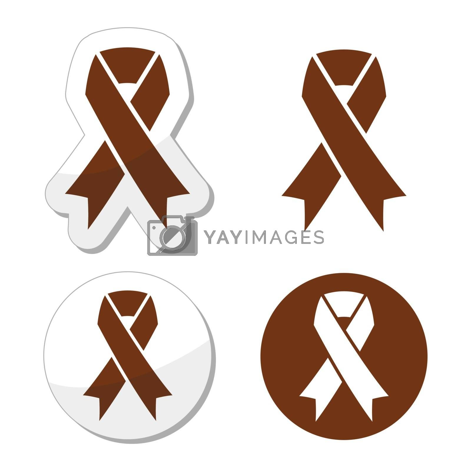 Brown Ribbon Anti Tobacco Symbol Awereness Of Colon Cancer Colorectal Cancer Royalty Free Stock Image Stock Photos Royalty Free Images Vectors Footage Yayimages