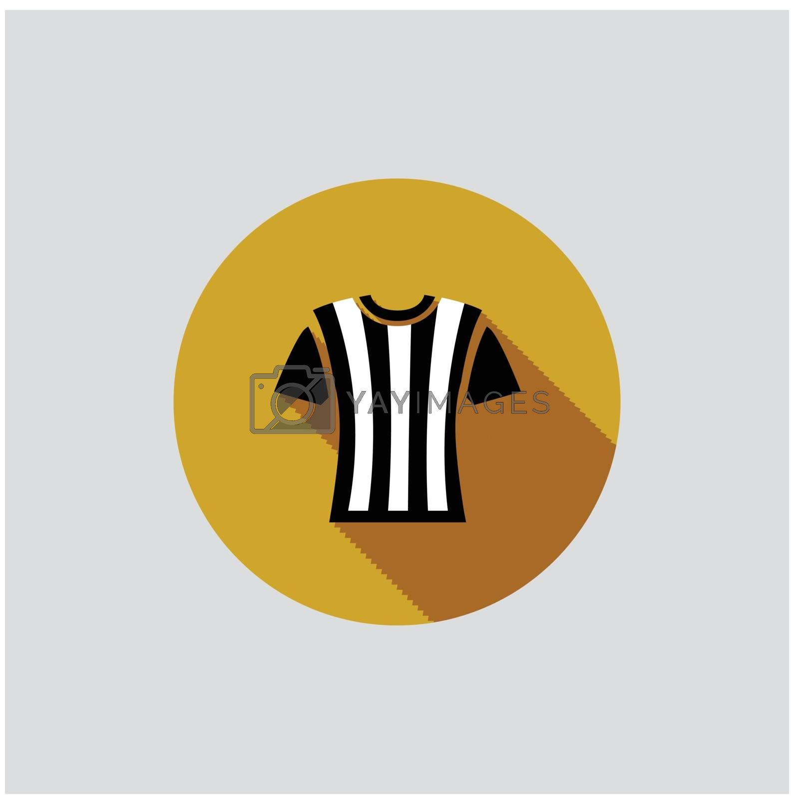 Football Referee T-shirt on grey background. Vector