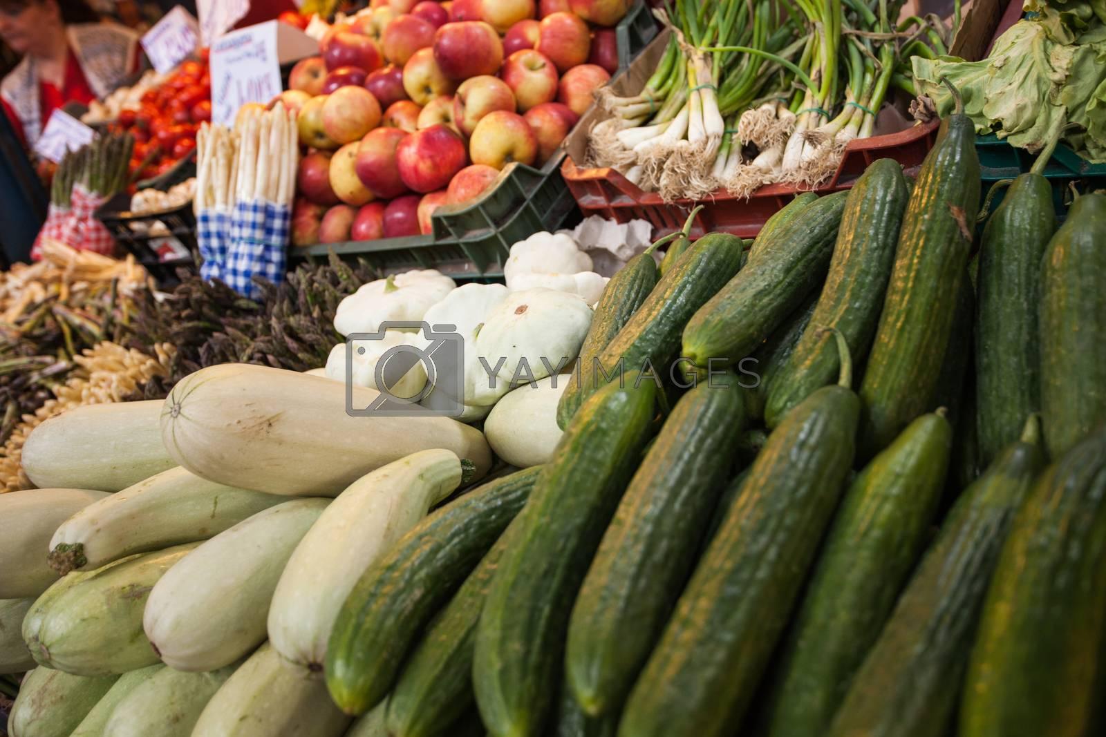 Royalty free image of Food market closeup by fikmik