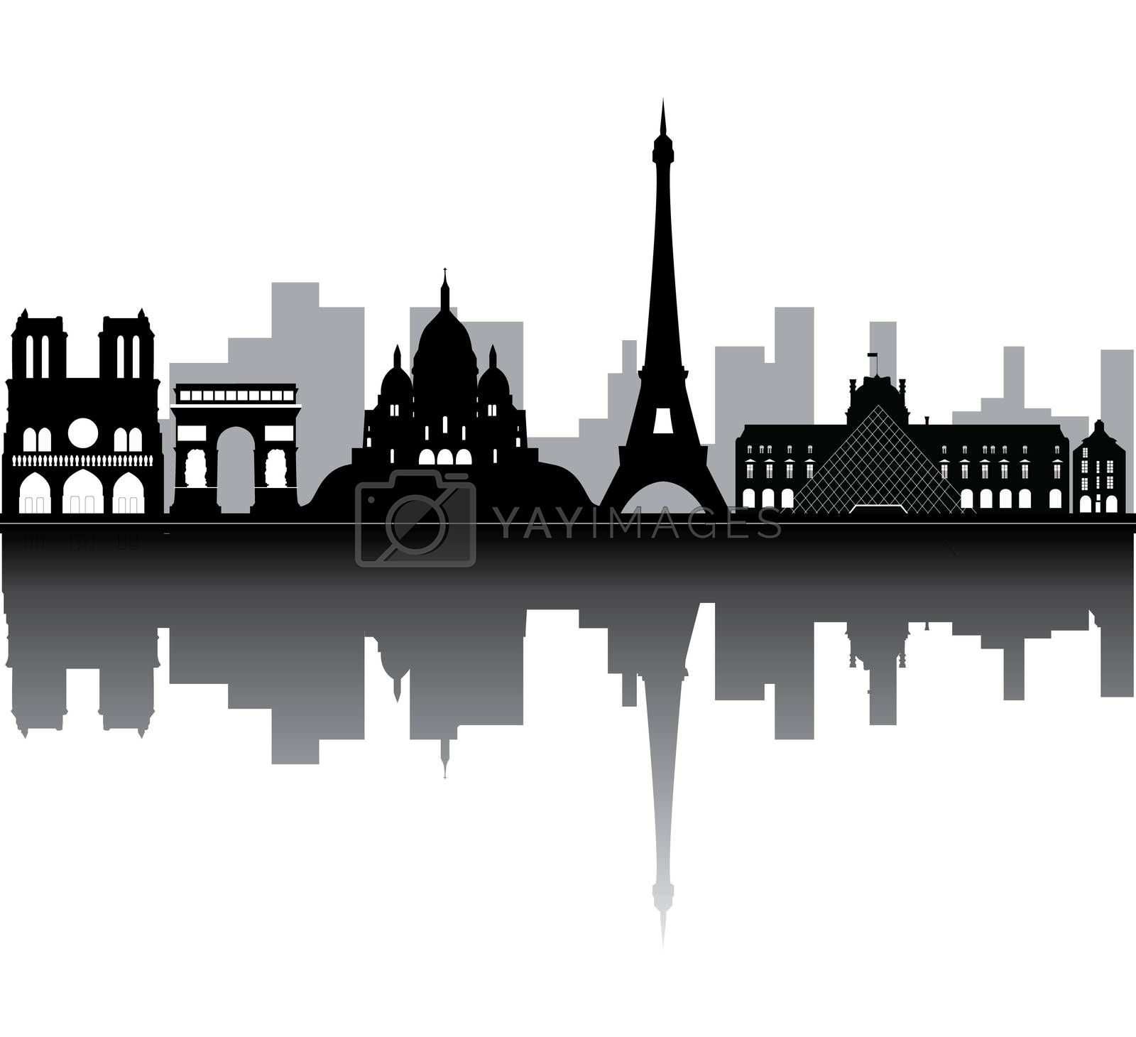 Royalty free image of paris skyline by compuinfoto